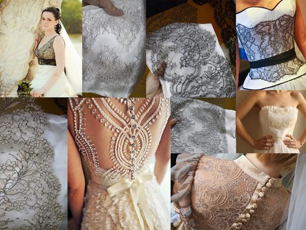 Как сшить платья с кружевами 50