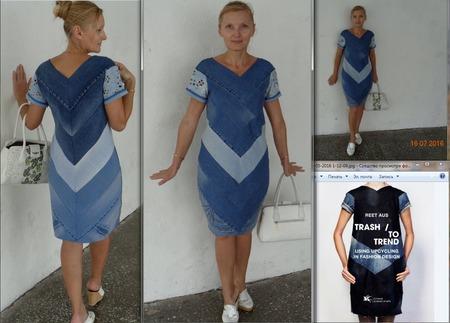 Платье своими руками из джинсов 85