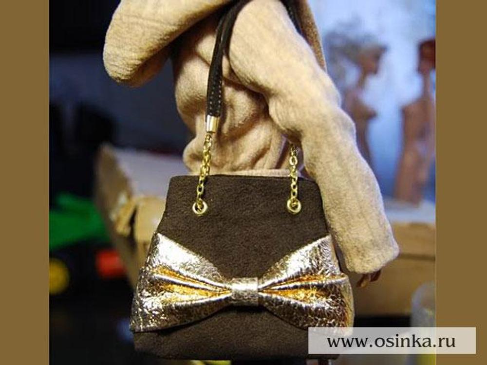 Как сделать сумку для куклы из кожи - Selivanov shina