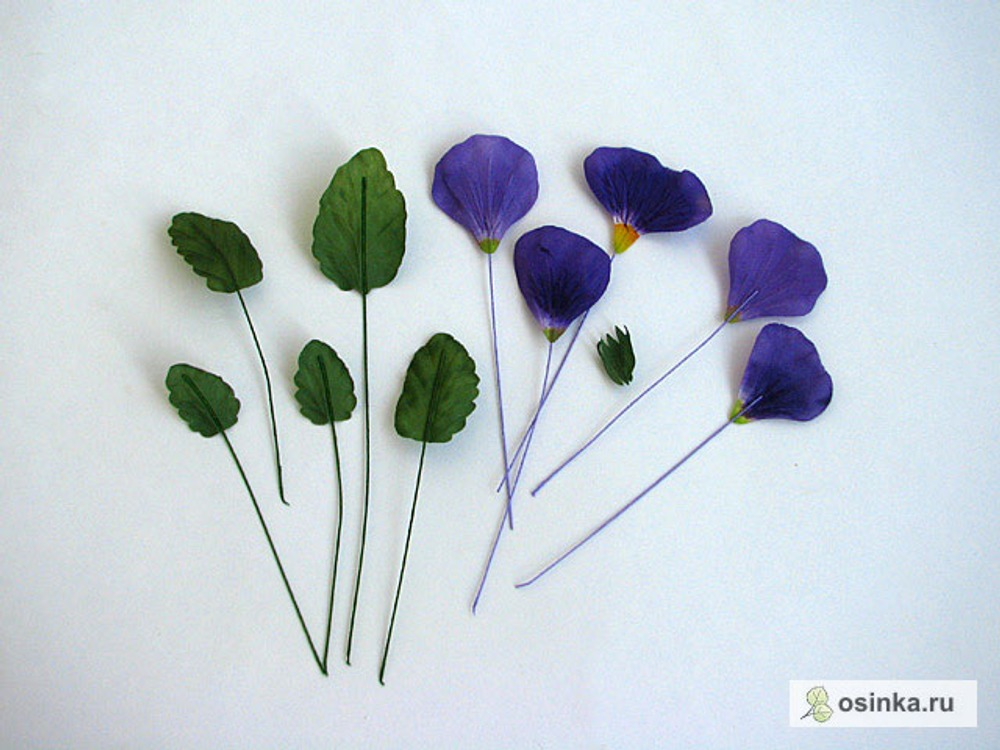 Цветы из бархата выкройки