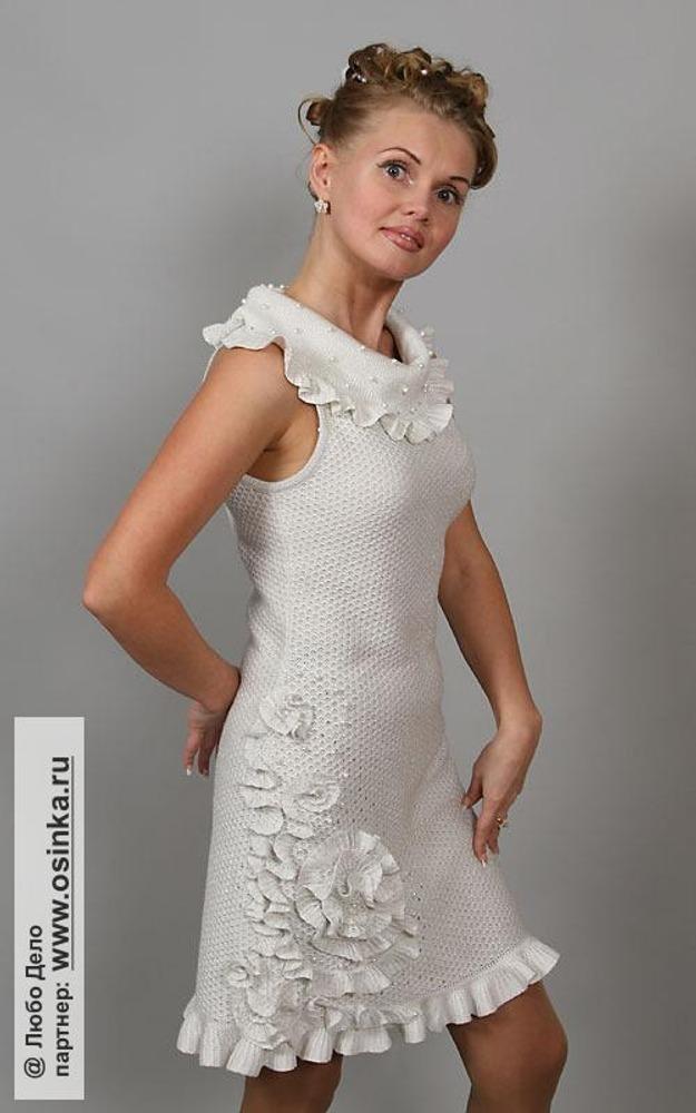 Украшения для вязаного платья