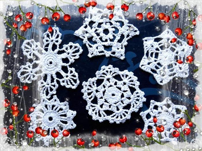 Фото. Снежинки и прочите мелкие фрагменты пригодятся перед праздником. Автор работы - По-зи-тифф