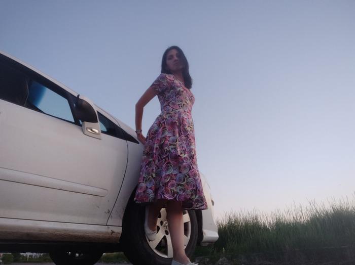Фото. Платье из штапеля для дочери.    Автор работы - Vors