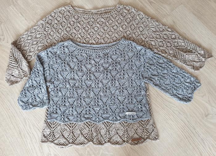 Фото. Два летних пуловера из SPAGHETTO Monticolor.   Автор работы - Лизун