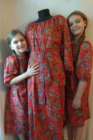 Фото. Комплект для мамы и дочек.  Автор работы - St.Elena