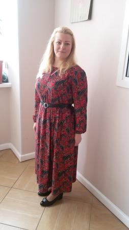 Фото. Платье из принтованного вельвета, мой фаворит!