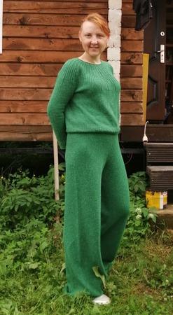 Фото. Вязаные брюки.  Автор работы - TatianaSergevna