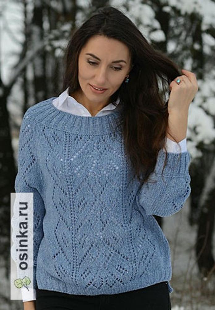 Фото. Пуловер Frosty time. Кашемировый твид с шелком.  Автор работы - mazepyla