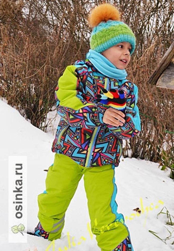 """Фото. Комплект для сына """"ЗИМНИЕ ЗАБАВЫ"""". Куртка, салатовый полукомбез... Автор работы - Веревочк@"""
