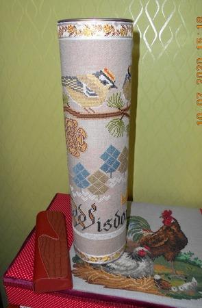 Фото. Тубус с вышивкой. Автор работы - Gal-lka
