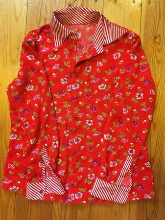 Фото. Переделка -  блузка-рубашка из халата.  Автор работы - sovuwka