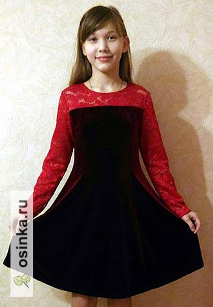 Фото. Платье для внучки для праздника.. Автор работы - Марина З.