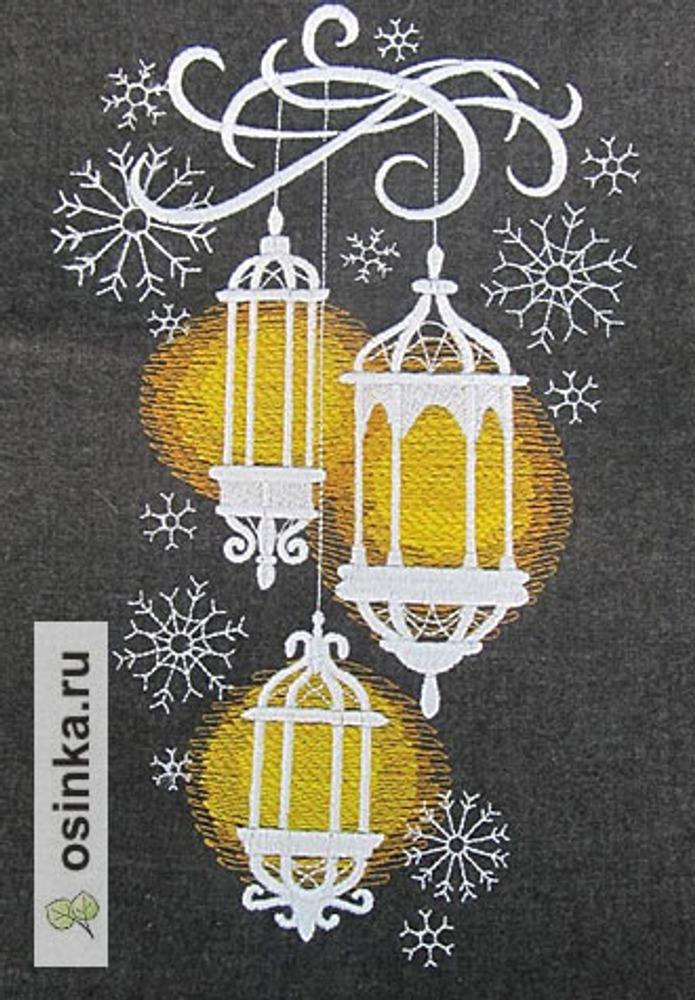Фото. Новогодняя вышивка. Автор работы - ElliElliElli