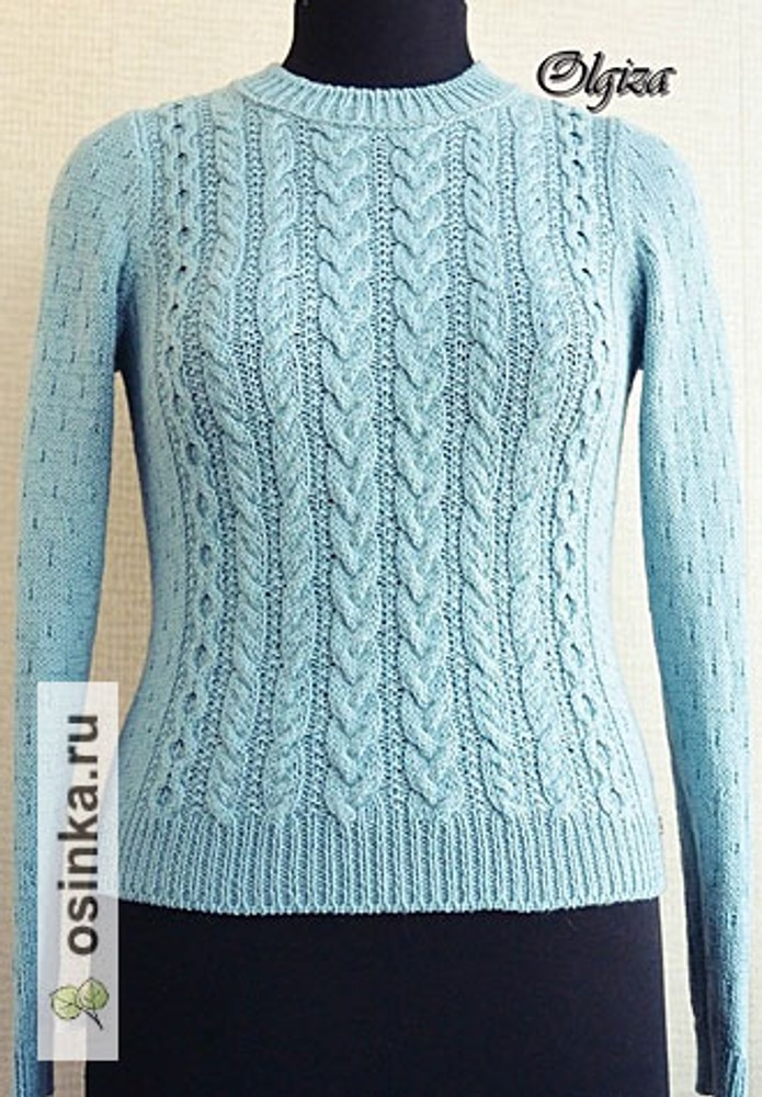 Фото. Пуловер, пряжа Orlando Lineapiu. Автор работы - Olgiza