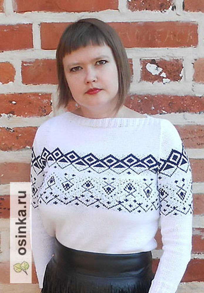 Фото. Пуловер из BERGERE DE FRANCE CREATIONS 2015/2016. Автор работы - НатТусся