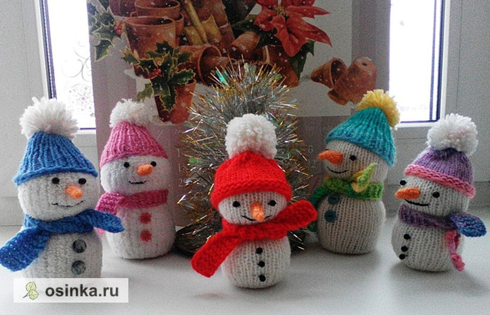 Фото. Все началось со Снеговичка в детский сад, на конкурс поделок... Автор работы - Ш@почка