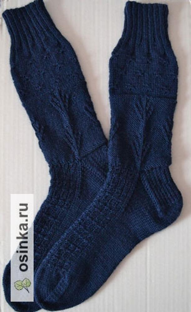 Фото. Пейзажные носочки Midnight Sky Socks от Maureen Foulds. Автор работы - Juli-я