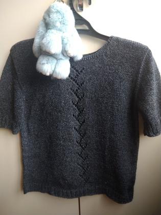 Фото. Кофточка, машинное вязание.  Автор работы - tobianka