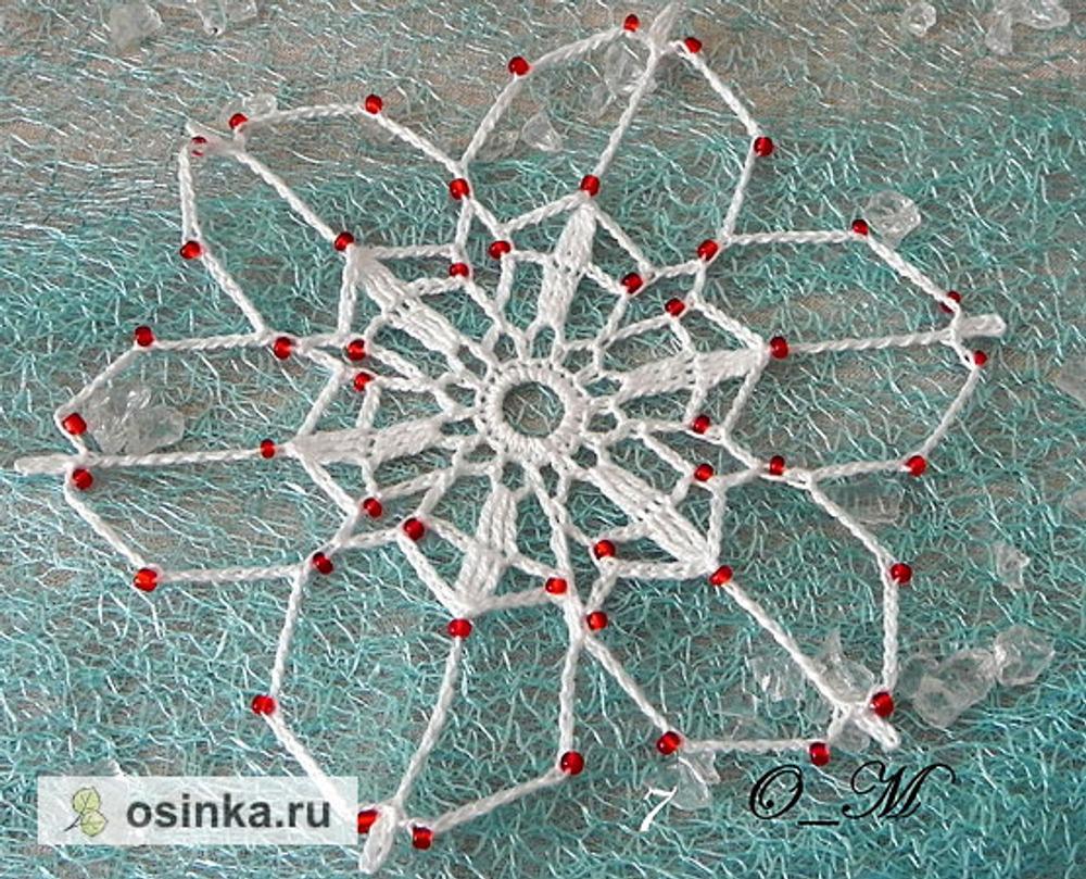 Фото. Большая проблема - придание снежинкам жесткой формы. Автор работы - Olga_Mt