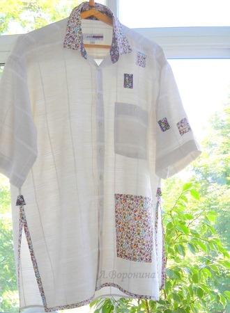 Фото. Переделка мужской рубашки.  Автор работы - Карманьола
