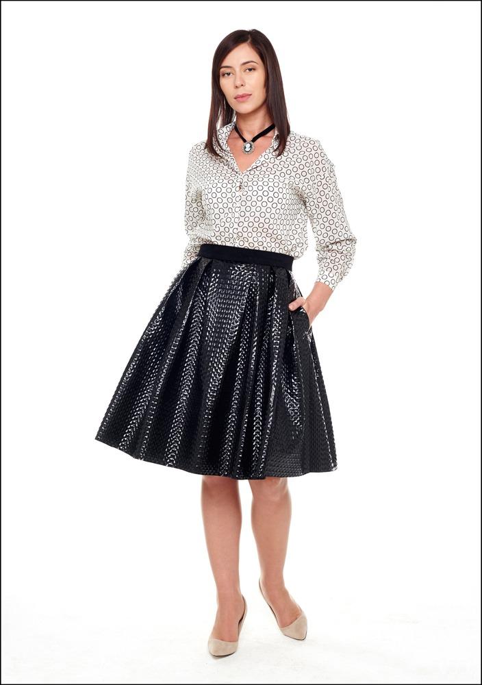 Комплект №4 . Блуза и юбка – «Модное пространство @Loft_77», Туфли – «Эконика», Колготы – Falke
