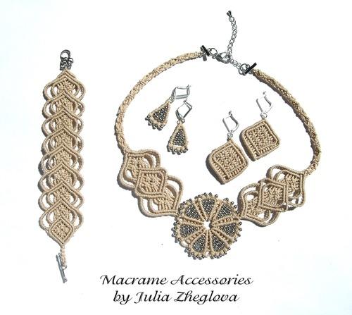 Фото. ... и набора украшений: колье, браслет и две пары серёг. Автор работы - Stelo
