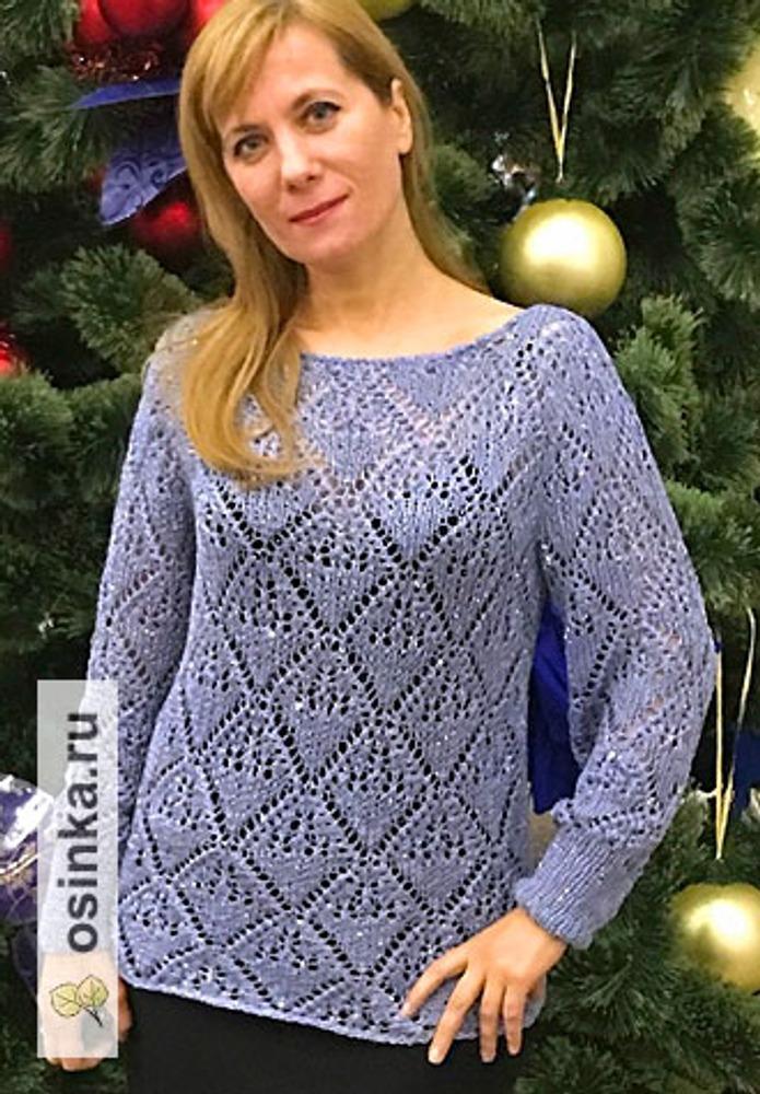 """Фото. Пуловер """"Льдинка"""".  Автор работы - Краля"""
