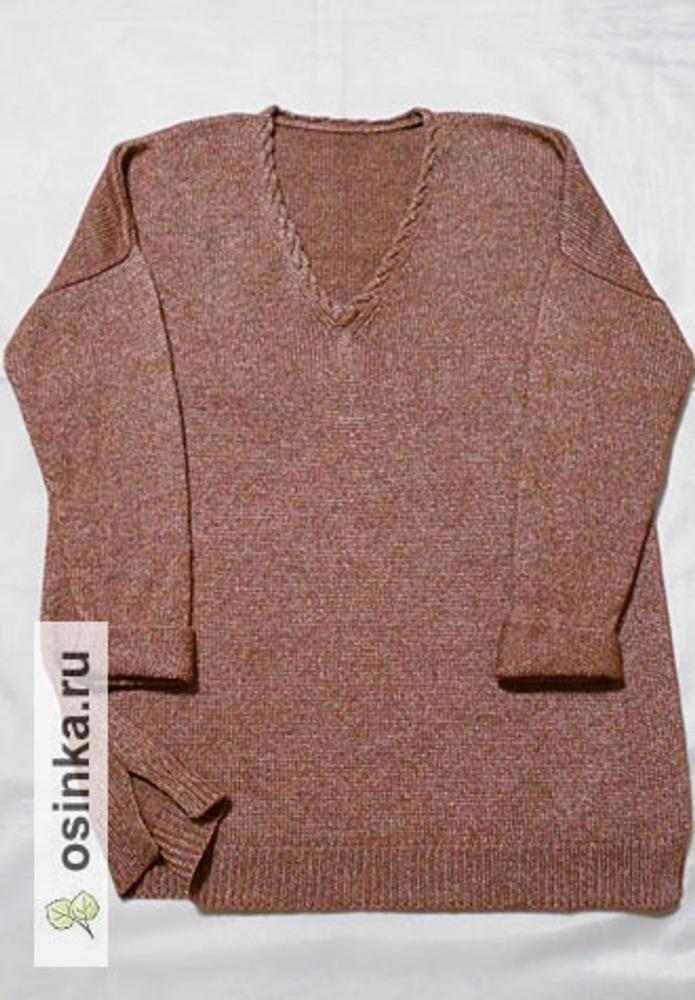 Фото. Скромненький пуловер оверсайз из итальянской пряжи.  Автор работы - tina65