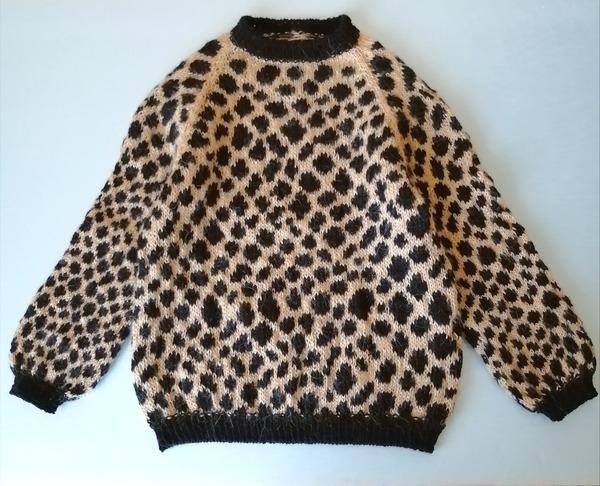 Фото. Леопардовый джемпер для внучки.  Автор работы - Ольга 77717