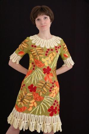 """Фото. Платье """"Осень во Фландрии"""" -  связано для конкурса на Осинке."""