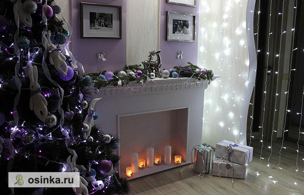 Фото. Дом в праздничном убранстве - новогодний камин. Автор работы - cvetok1977