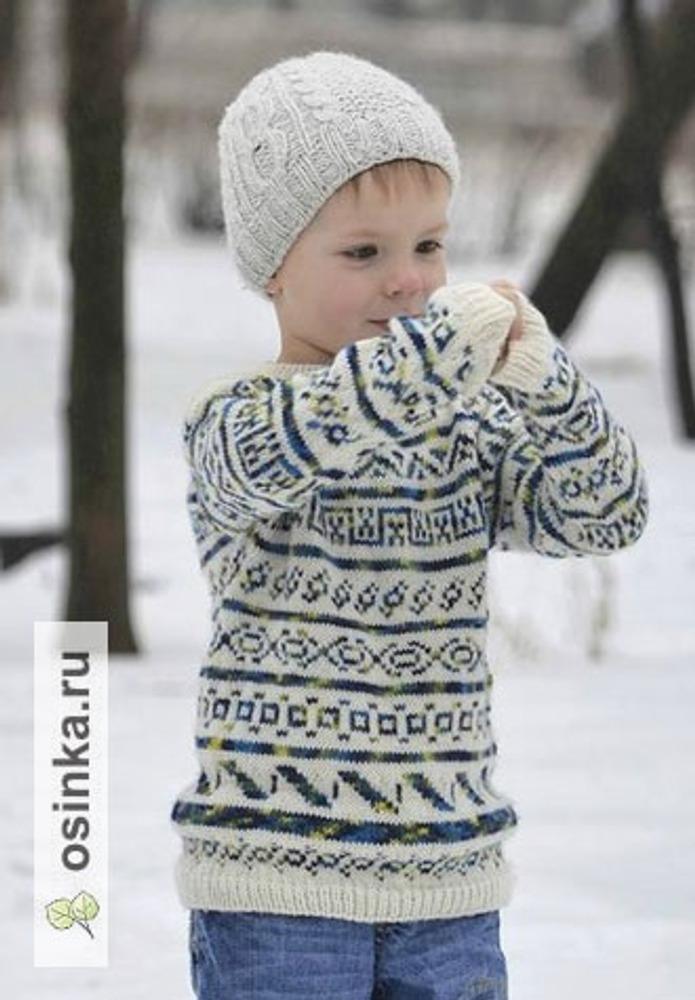 Фото. Свитер и шапка для сына. Шапка Husband Beanie, по описанию Jen Eastin.  Автор работы - olujsh