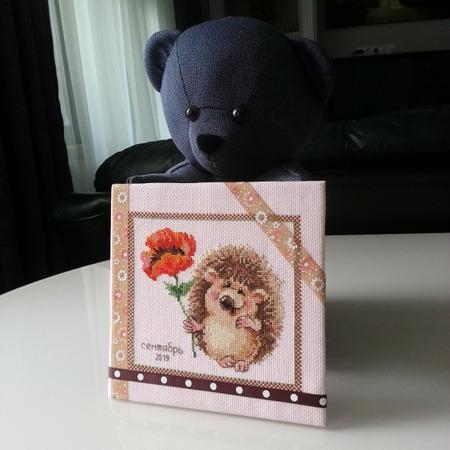Фото. Вышитая открытка для учителя. Автор работы - Etta