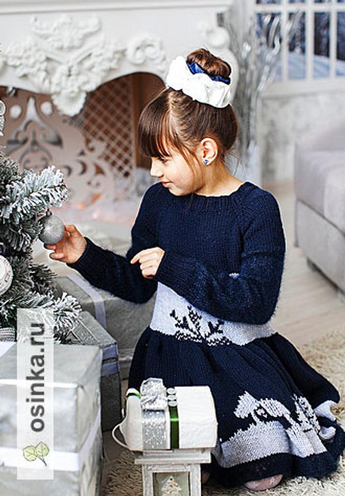 Фото. Платье для девочки 7+ лет. Пряжа - ярнарт Лана голд. Автор работы - irusik_simf