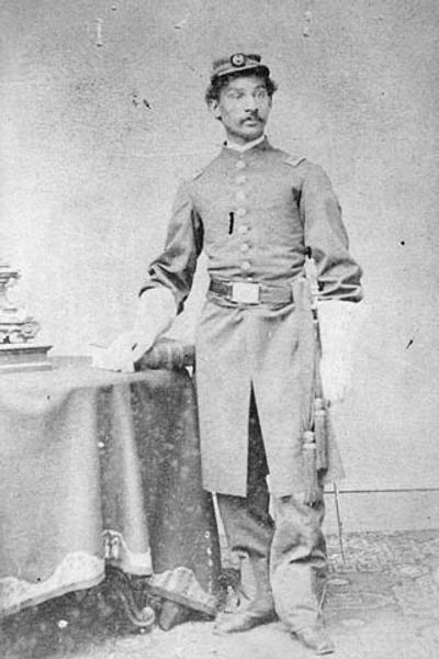 Фото. Американский солдат времен Гражданской войны в  США.