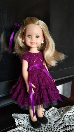 Фото. Платье для куклы - уедет в подарок.