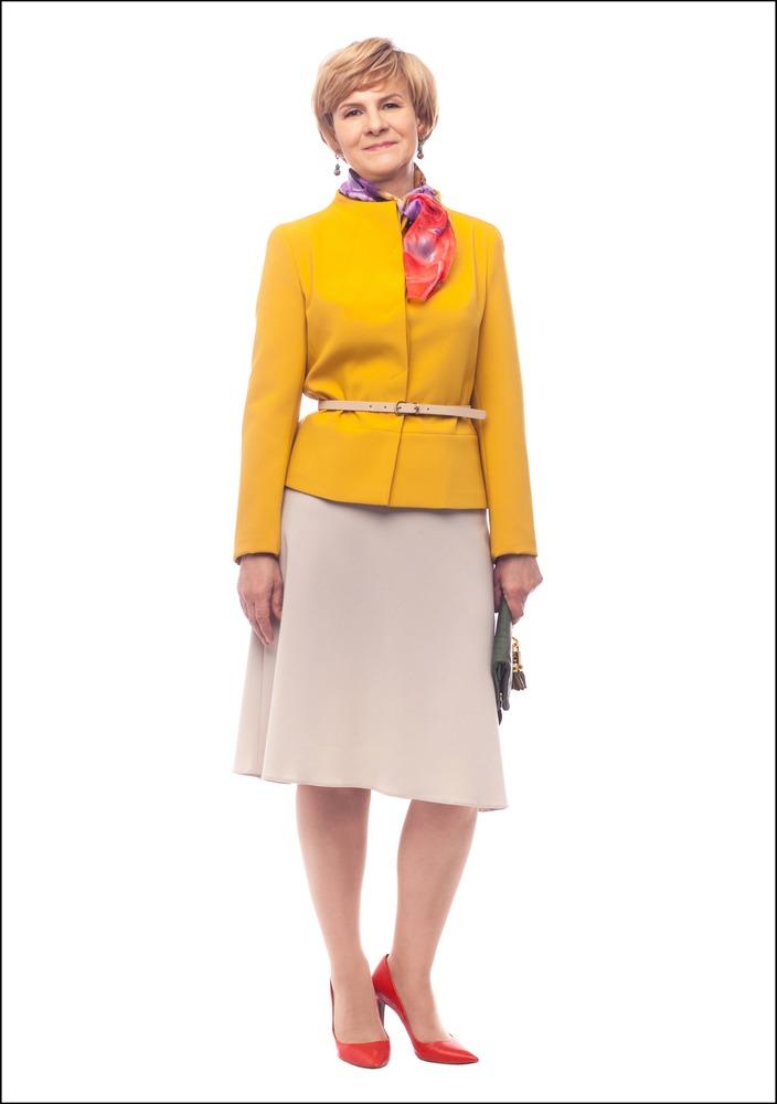 Комплект №2 . Жакет, юбка и пояс – Monton. Серьги – Style Avenue