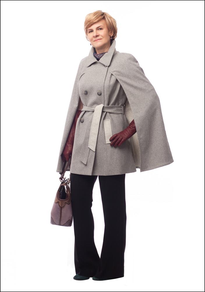 Комплект №1 . Кейп и брюки – Caterina Leman. Серьги – Style Avenue