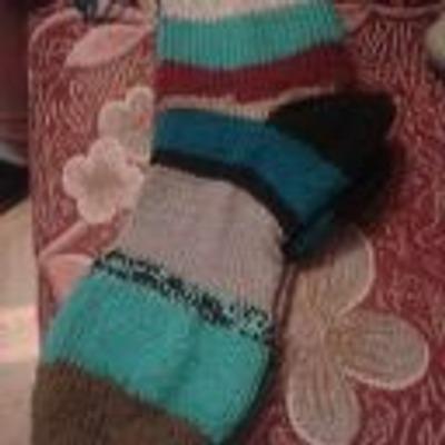 Фото. Разноцветные носочки.  Автор работы - Melissa88