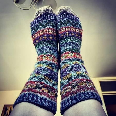 Фото. Жаккардовые носочки.  Автор работы - Runic