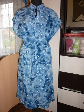 Фото. Платье из штапеля.  Автор работы - Слобожанка