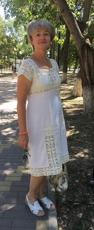 Фото. Летнее платье.   Автор работы - Ульбинка