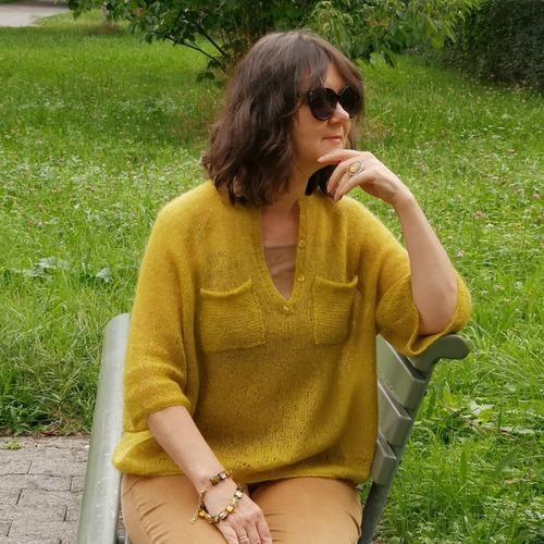 Фото. Разлетайка из мохера.    Автор работы - Virina1