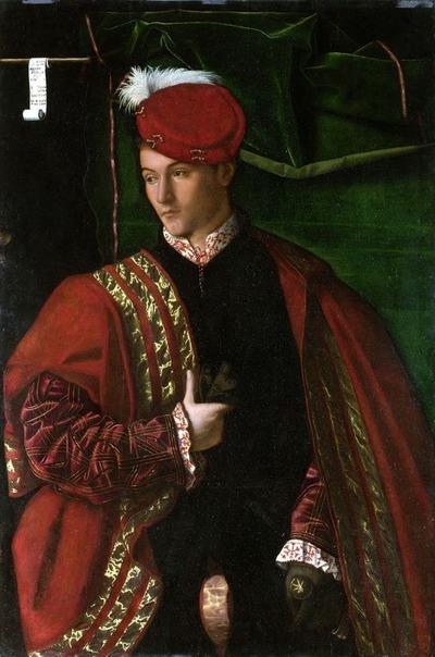 """Фото. Бартоломео Венето (1502-1531) """"Lodovico Martinengo"""", 1530 г., национальная галерея, Лондон"""