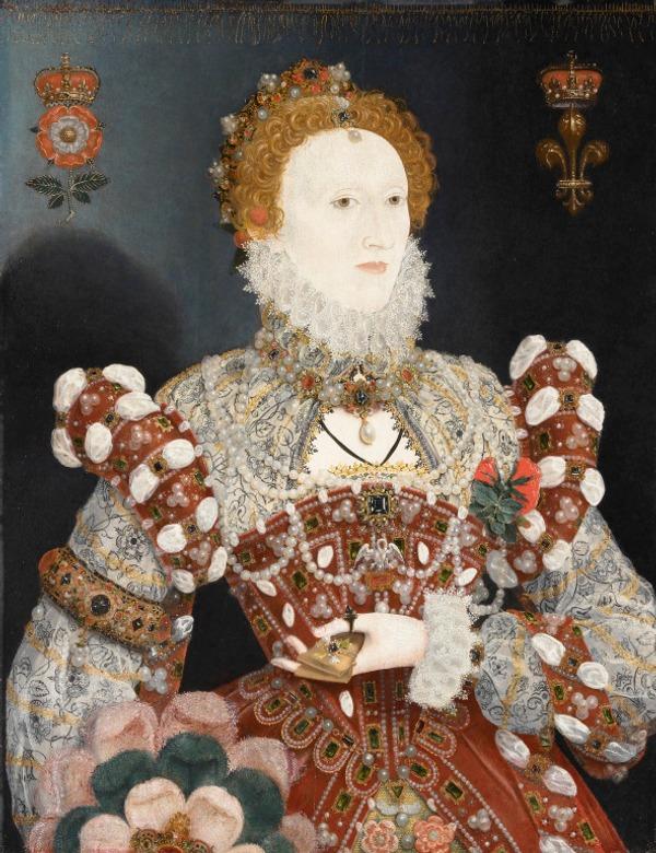 "Фото. Портрет Елизаветы I, т. н. ""Пеликан"" (вероятно   Николас  Хиллиард, около  1573-1575 гг."