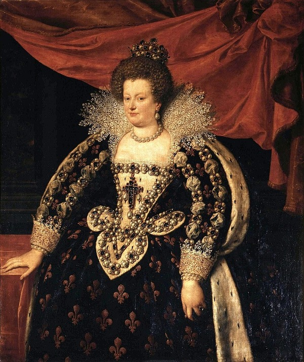 """Фото. Франс Младший Пурбус """"Мария Медичи, королева Франции"""", 1611 г с кружевным воротником медичи"""