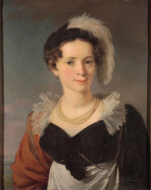 """Фото. В. А. Тропинин """"Портрет Н.И. Чернышёвой"""" (1816-1818)"""
