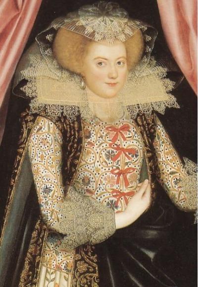 "Фото. Уильям Ларкин ""Дороти Кэри, позже виконтесса Рочфорд"", ок. 1614-1618."