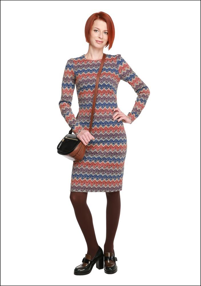 Комплект №1 . Платье – Lusio. Туфли и сумка – «Эконика»