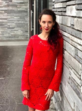Фото. Платье из мотивов крючком.   Автор работы - 1.C.A.